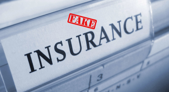 fake insurance papers