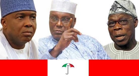 Image result for Obasanjo, Atiku, Saraki