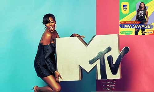 Tiwa Savage Beats Davido Others, To Bag MTV Best African Act